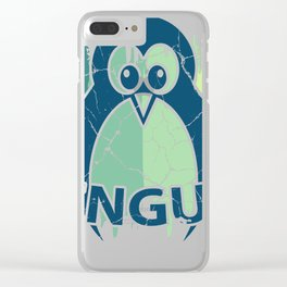 Penguin Gift, Antarctic South Pole Emperor Penguin Clear iPhone Case