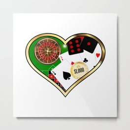 Love Gambling Metal Print