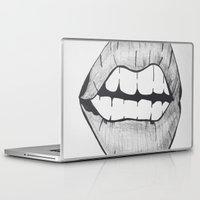 lips Laptop & iPad Skins featuring Lips by Rosalia Mendoza