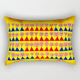 La foule Rectangular Pillow