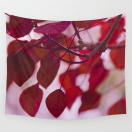 Red Leaves Wall Tapestry
