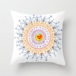 Shinning Heart Zentangle Throw Pillow