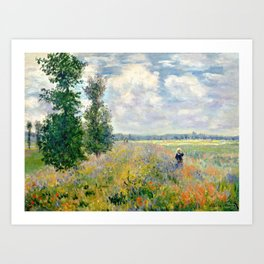 Poppy Fields near Argenteuil by Claude Monet Art Print