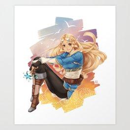 BotW Zelda Art Print