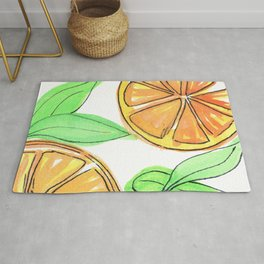 Citrus Watercolor Rug