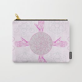 Purple Palms Carry-All Pouch