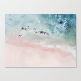 Ocean Pink Blush Canvas Print