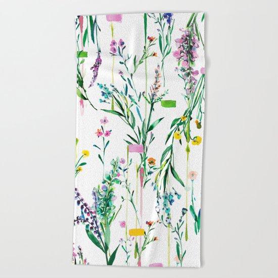 Fleur botanique Beach Towel