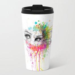 Beautiful Flower Eyes Travel Mug