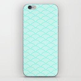 Green Mint Mermaid Scales iPhone Skin