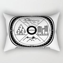 Wherever i go  blk Rectangular Pillow