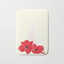 Floral Triangle Bath Mat
