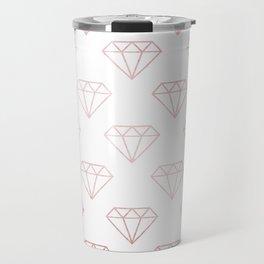 Simply Shimmer Diamonds in Rose Gold Sunset Travel Mug