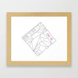 Call Me Napkin Framed Art Print