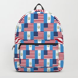 Mix of flag: Usa and Guatemala Backpack