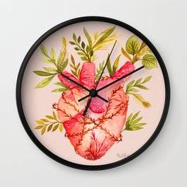 Fridas heart Wall Clock