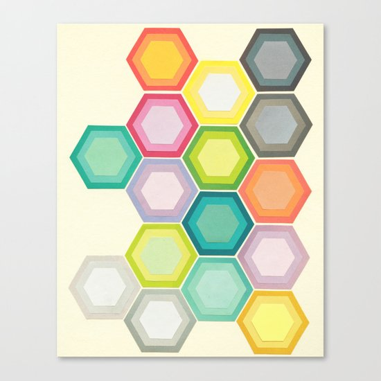 Honeycomb Layers Canvas Print