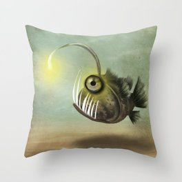 Fishy on it's own Throw Pillow