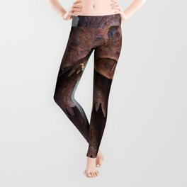 Rusty metal owl Leggings