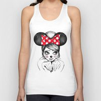 minnie mouse Tank Tops featuring Minnie by theavengerbutterfly
