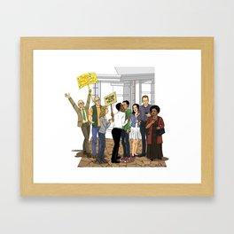 Welcome Home Troy Framed Art Print