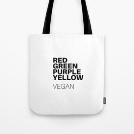 Vegan colors Tote Bag