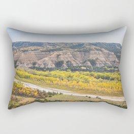 Badlands, Theodore Roosevelt NP, ND 18 Rectangular Pillow