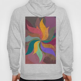 Pinwheel Grungy Abstract Design Hoody
