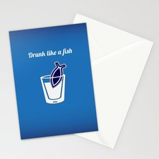 Drunk like a fish Stationery Cards