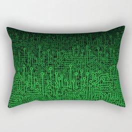 Reboot II GREEN Rectangular Pillow