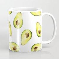 avocado Mugs featuring avocado by Lucia Devetakova