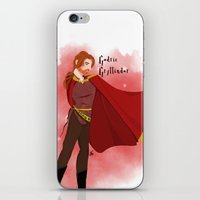 gryffindor iPhone & iPod Skins featuring Godric Gryffindor by Hailey Del Rio