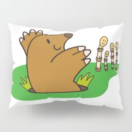a Mole from the ground greets horsetail Pillow Sham