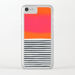 Sunset Ripples Clear iPhone Case