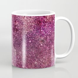 Modern chic faux glitter girly purple pattern Coffee Mug