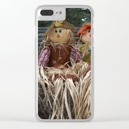 Scarecrow Family Clear iPhone Case