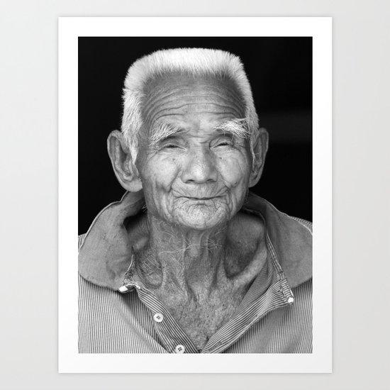 My face tells 1000 stories. Art Print