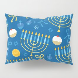 Hanukkah Menorah Pattern Pillow Sham