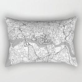 Porto Map Line Rectangular Pillow