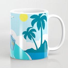 tardis in water waves Coffee Mug