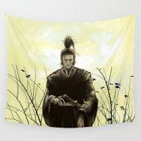 samurai Wall Tapestries featuring Samurai by Tony Vazquez