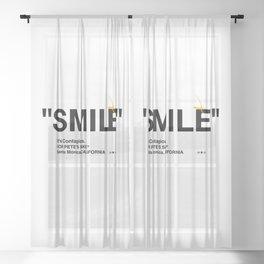 """SMILE"" Sheer Curtain"