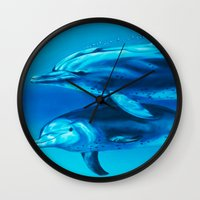 dolphin Wall Clocks featuring Dolphin by Bocese