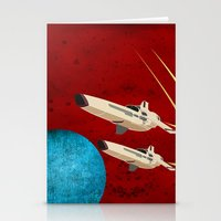 battlestar galactica Stationery Cards featuring Galactica by Tony Vazquez