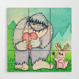 The Bigfoot and The Jackalope Wood Wall Art