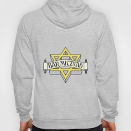 Bar Mitzvah with gold star of david Hoody