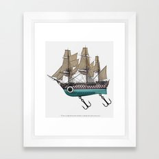 To catch a sea monster Framed Art Print