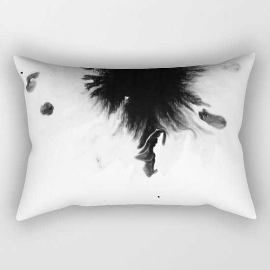 Black Ink II Rectangular Pillow