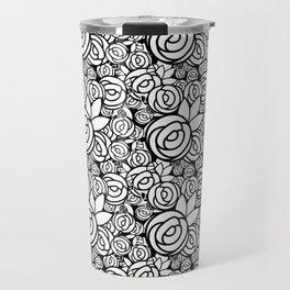 Black & White Rosettes Travel Mug