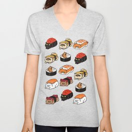 Sushi Persian Cat Unisex V-Neck